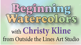 beginning watercolors with christy kline