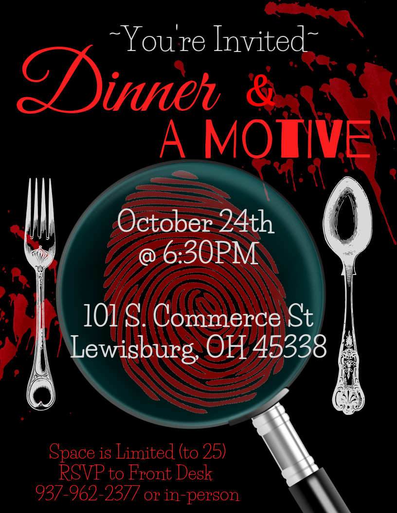 dinner and a motive invitation